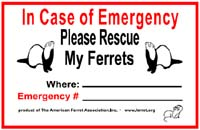 AFA Emergency Rescue Stickers